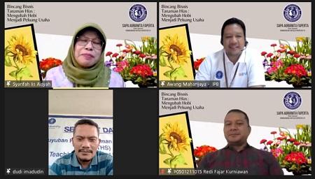 Serunya Bincang Bisnis Tanaman Hias di IPB University